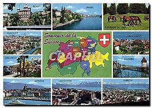 Carte Postale Moderne Souvenir de la Suisse