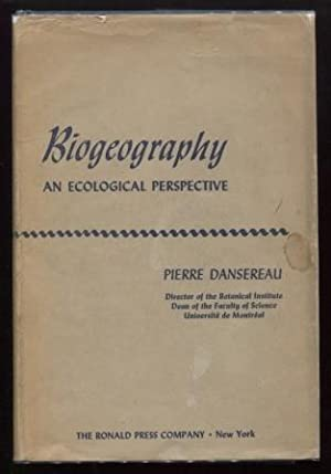 Biogeography ; An Ecological Perspective An Ecological Perspective