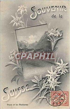 Carte Postale Ancienne Souvenir de la Suisse