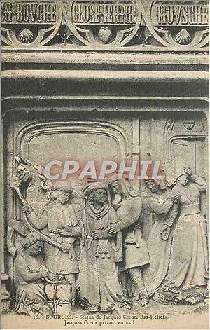 Carte Postale Ancienne 16 Bourges statue de