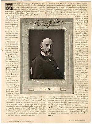 Eugène Fromentin (1820 - 1876), peintre et: Photographie originale /
