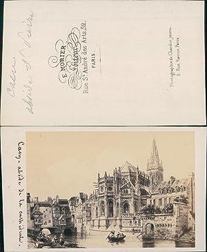 Morier, France, Caen, cathédrale: Photographie originale /