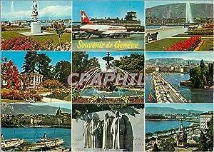Carte Postale Moderne Souvenir de Geneve Suisse