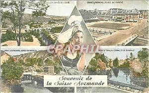 Carte Postale Moderne Souvenir la suisse normande