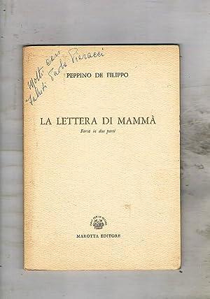 La lettera di mammà. Farsa in due: DE FILIPPO Peppino.