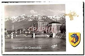 Suisse Carte Postale Ancienne Souvenir de Grenoble