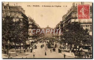 Paris Carte Postale Ancienne Avenue de l'Opera
