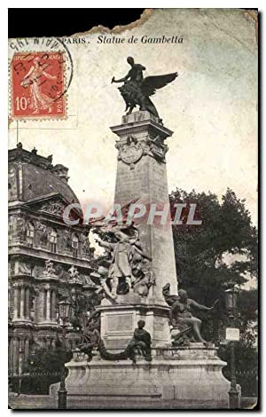 Paris - 1 - Statue de Gambetta - Carte Postale Ancienne