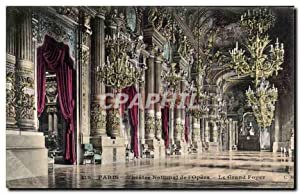 Paris Carte Postale Ancienne Théâtre National de l'opera le grand foyer