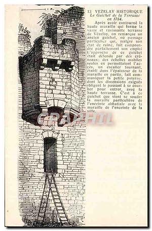 Carte Postale Ancienne Vezelay historique Le guichet