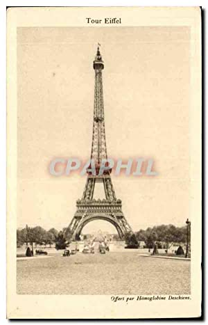 Paris Carte Postale Ancienne Tour Eiffel