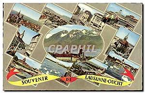 Carte Postale Ancienne Souvenir Lausanne Ouchy Suisse