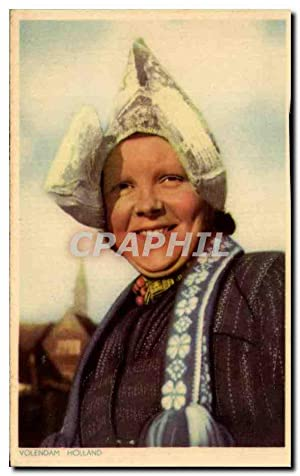 Carte Postale Ancienne Volendam Holland Folklore Costume