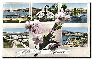 Carte Postale Ancienne Souvenir de Geneve Suisse