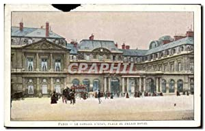 Carte Postale Ancienne Paris le conseil place du palais royal