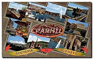 Carte Postale Semi Moderne Souvenir De Geneve