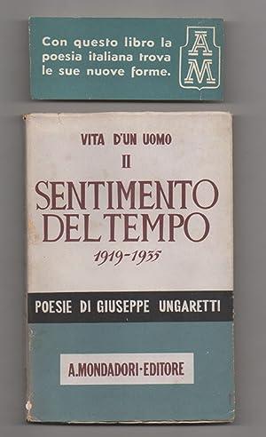 Vita di un uomo. Poesie II. 1919-1935.: Ungaretti, Giuseppe