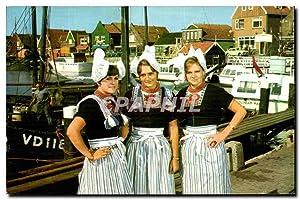 Carte Postale Moderne Volendam Holland Folklore Costume