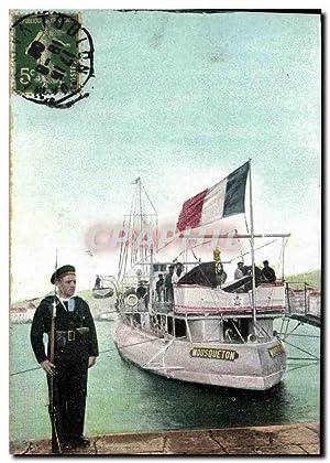 Carte Postale Ancienne Bateau La vie du