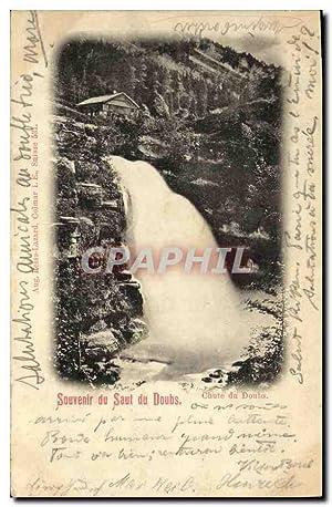 Carte Postale Ancienne Suisse Souvenir du saut