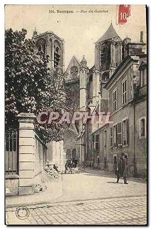 Carte Postale Ancienne Bourges Rue du Guichet