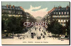 Carte Postale Ancienne Paris Avenue De I'Opera