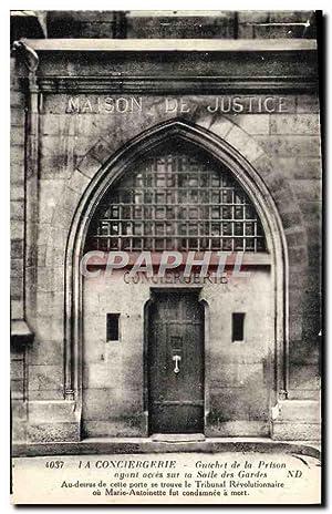 Carte Postale Ancienne Prison Paris la Conciergerie