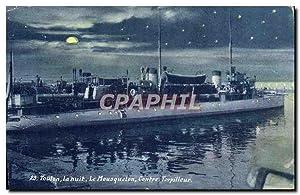 Carte Postale Ancienne Toulon La nuit Le