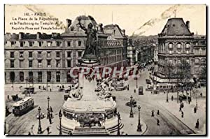 Carte Postale Ancienne Paris La Place de la Republique