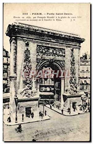 Carte Postale Ancienne Paris Porte Saint Denis