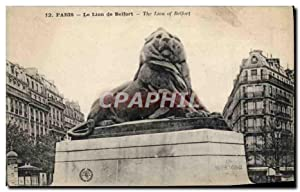 Carte Postale Ancienne Paris Le Lion de Belfort