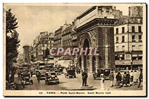 Carte Postale Ancienne Paris Pote Saint Martin