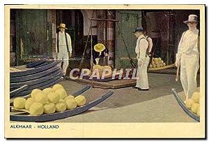 Carte Postale Ancienne Alkmaar Holland Fromage