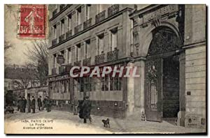 Carte Postale Ancienne Paris 14eme La Poste Avenue d'Orleans