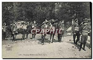 Carte Postale Ancienne Militaria Chasseurs Alpins Equipage