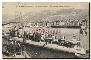 Carte Postale Ancienne Bateau Toulon Le quai