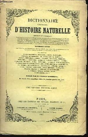 Dictionnaire Universel d'Histoire Naturelle. TOME IX, 2ème: D'ORBIGNY Charles