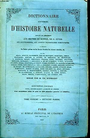 Dictionnaire Universel d'Histoire Naturelle. TOME XI, 2ème: D'ORBIGNY Charles