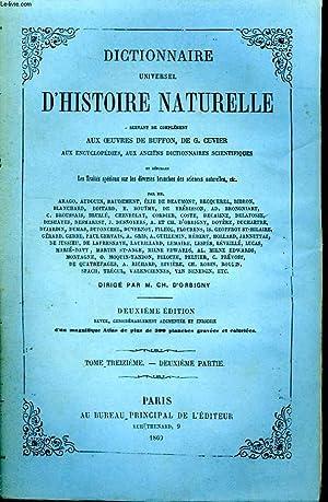 Dictionnaire Universel d'Histoire Naturelle. TOME XIII, 2ème: D'ORBIGNY Charles