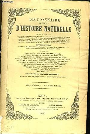 Dictionnaire Universel d'Histoire Naturelle. TOME XII, 2e: D'ORBIGNY Charles