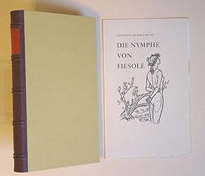 Bild des Verkäufers für Die Nymphe von Fiesole. Eine Erzählung in Versen. zum Verkauf von antiquariat peter petrej