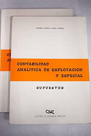 Contabilidad analítica de explotación y especial: García Adán, Daniel