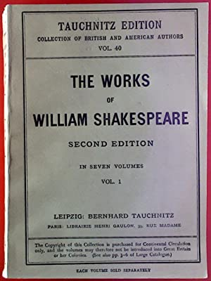 The Works of William Shakespeare Second Edition: ohne Autorenangabe