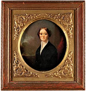 [OVAL PORTRAIT OF MRS. CLARA BARTLETT GREGORY CATLIN]