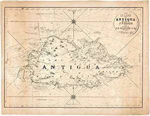THE ISLAND OF ANTIGUA. Revised by J.W. Norie, 1827