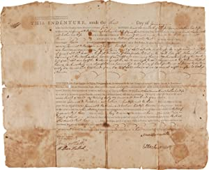 [PRINTED INDENTURE FORM, COMPLETED IN MANUSCRIPT, BETWEEN AMOS LEAVENWORTH AND SAMUEL W. BALDWIN ...
