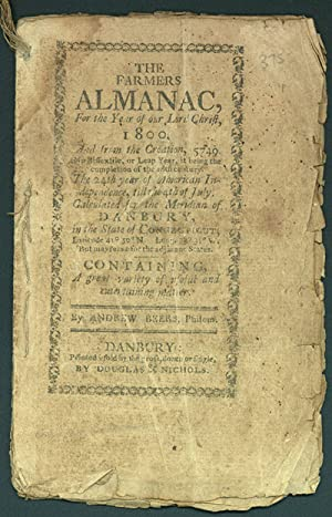 THE FARMERS ALMANAC, FOR THE YEAR OF OUR LORD CHRIST, 1800
