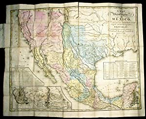 A MAP OF THE UNITED STATES OF MEXICO, AS ORGANIZED AND DEFINED BY THE SEVERAL ACTS OF THE CONGRES...