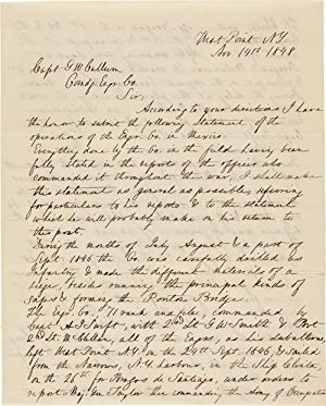 [AUTOGRAPH LETTER, SIGNED, FROM GEORGE McCLELLAN TO CAPT. GEORGE WASHINGTON CULLUM, ABOUT HIS MEX...