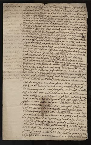 Dutch Financial Document from 1737